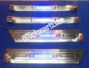 SNT 55-Sill Plate Samping/Door Sill Plate Stainless + Lamp Toyota SIENTA