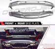 CRT 61-Front n Rear Skid Plate / Skidplate / Depan + Belakang Plate Silver Honda All New CRV Turbo